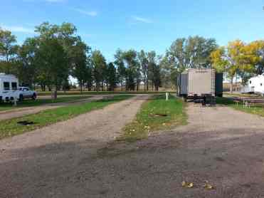 Codington County Memorial Park in Watertown South Dakota Pull thru