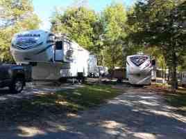 Cooper Creek Campground in Branson Missouri Pull thrus