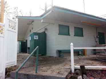 Adventure Bound Camping Resorts Crazy Horse Campground in Gatlinburg Tennessee Restroom