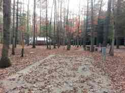 Cumberland Mountain State Park in Crossville Tennessee Small Site Partial Hookups