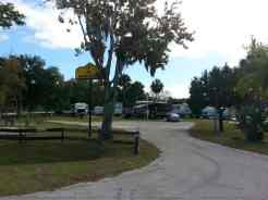 Daytona Speedway KOA in Daytona Beach Florida Entrance