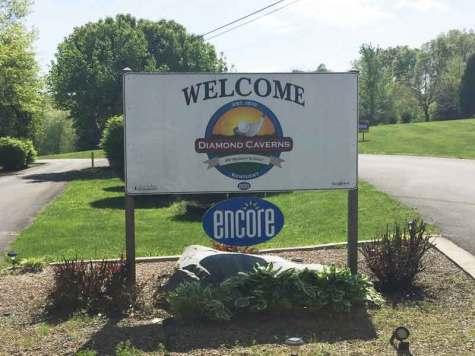 Diamond Caverns RV Resort & Golf in Park City Kentucky Sign