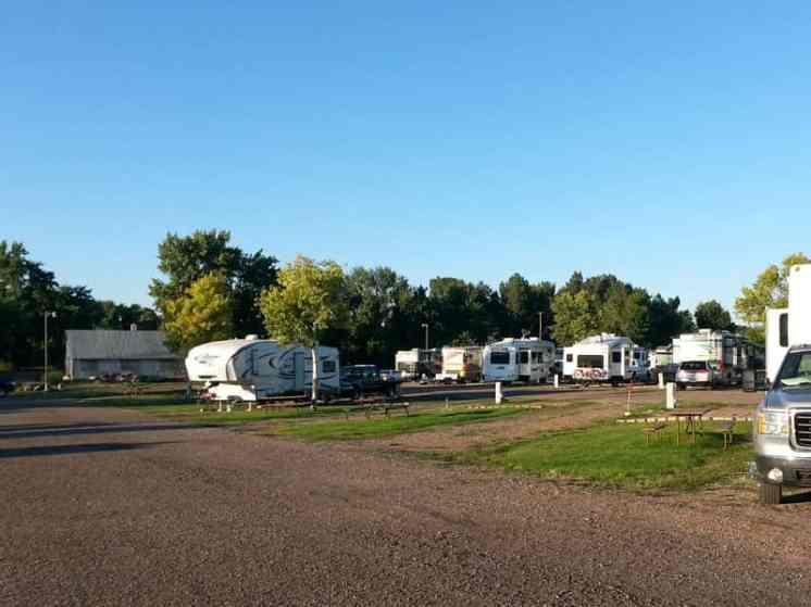Dicks RV Park Great Falls Montana Pull Thru