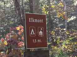 Elkmont Campground in the Great Smoky Mountains National Park near Gatlinburg Tennessee Sign