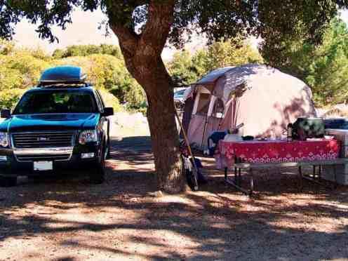 Glen Eden Nudist Resort in Corona California Tent Site