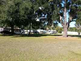 Gold Rock Campground and RV in New Smyrna Beach Florida Open Area