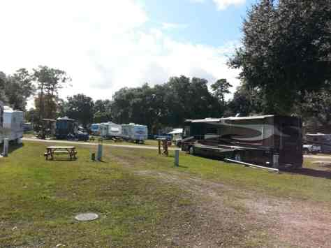 Gold Rock Campground and RV in New Smyrna Beach Florida Pull thru