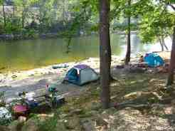 Greenbrier River Campground in Alderson West Virginia River Side Tent