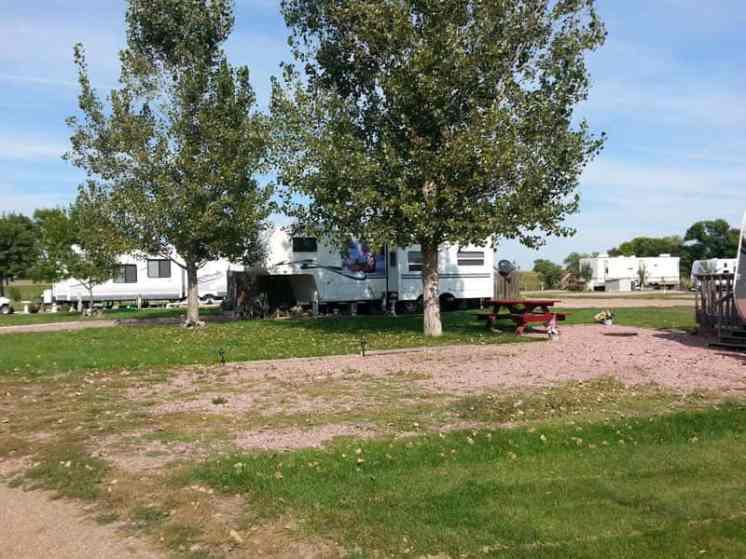 Happy Campers in Chamberlain South Dakota backins