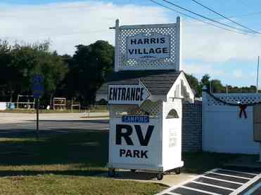 Harris Village RV Park in Ormond Beach Florida Sign