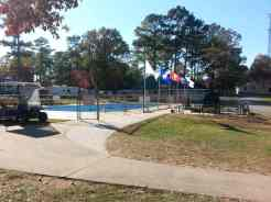 Harvest Moon RV Park in Adairsville Georgia Pool (closed for season in this photo)
