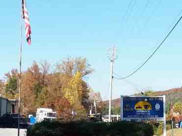 Harvest Moon RV Park in Adairsville Georgia Sign