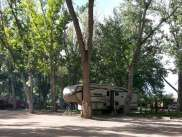 Indian Campground and RV Park in Buffalo Wyoming under the trees