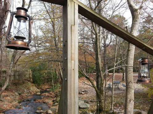 Great Smoky Jellystone Camp-Resort in Cosby Tennessee Entrance Bridge