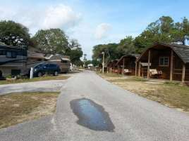 St. Augustine Beach KOA in St Augustine Florida Cabins and Roadway