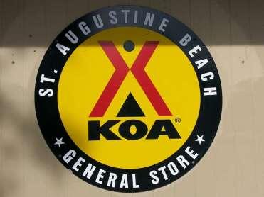 St. Augustine Beach KOA in St Augustine Florida Sign