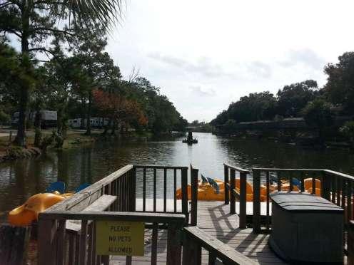 St. Augustine Beach KOA in St Augustine Florida Pond