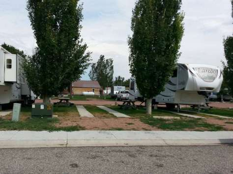 Lazy R Campground in Ranchester Wyoming Pull Thru