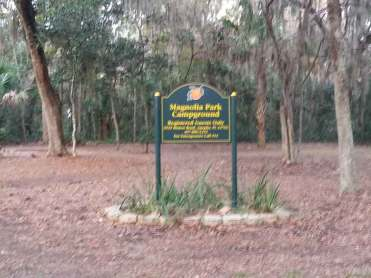 Magnolia Park Campground in Apopka Florida Sign