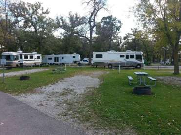 Margaret MacNider Campground in Mason City Iowa Full hookup sites
