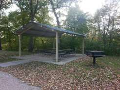 Margaret MacNider Campground in Mason City Iowa Pavilion