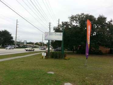Mill Creek RV Resort in Kissimmee Florida Sign