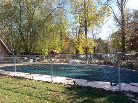 Mountaineer Campground in Townsend Tennessee Pool (Closed for Season in Picture)