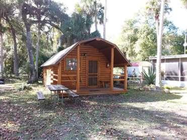 New Smyrna Beach RV Park and Campground in New Smyrna Beach Florida Cabin