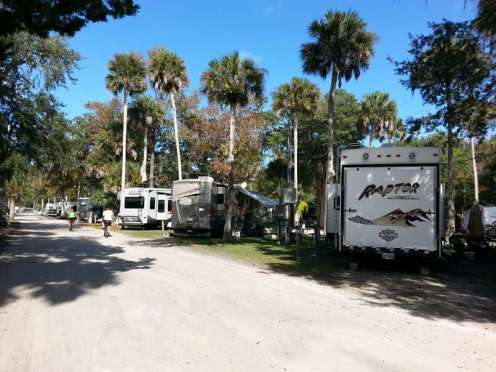 New Smyrna Beach RV Park and Campground in New Smyrna Beach Florida Road and Sites