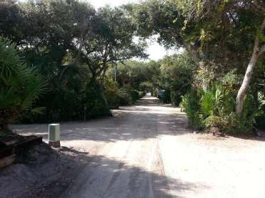 North Beach Camp Resort in Saint Augustine Florida Roadway