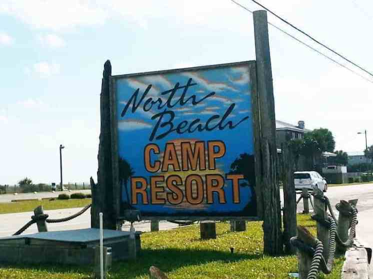 North Beach Camp Resort in Saint Augustine Florida Sign