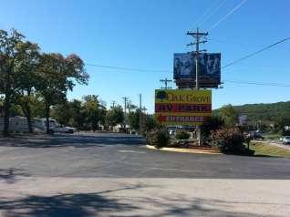 Oak Grove RV Park in Branson Missouri Sign