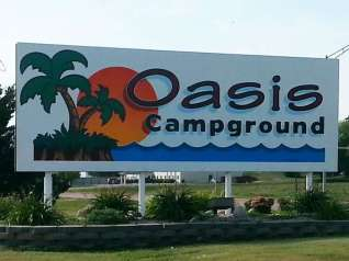 Al's Oasis Campground in Oacoma South Dakota Sign