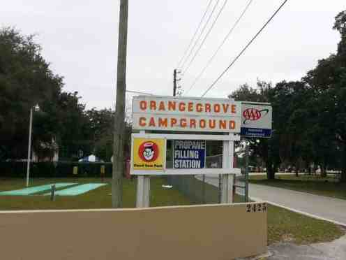 Orange Grove Campground and RV Park in Kissimmee Florida Sign