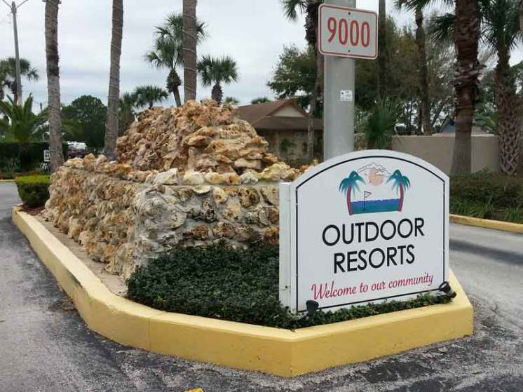 Outdoor Resorts at Orlando in Clermont Florida Sign