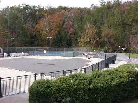 Outdoor Resorts at Gatlinburg near Gatlinburg Tennessee Pool Tennis (off-season view)