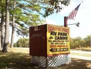Ozarks Mountain Springs R.V. Park & Cabins near Mountain View Missouri Sign on US 60