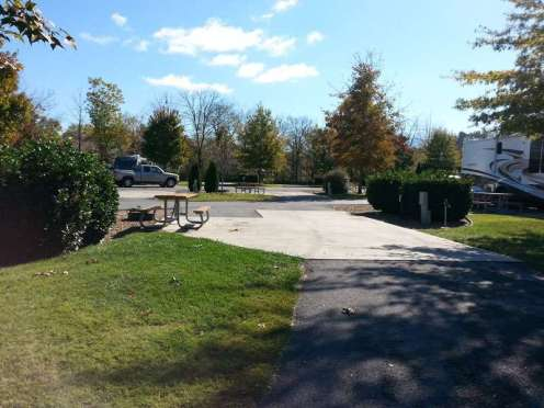 Pine Mountain RV Park by the River in Pigeon Forge Tennessee pull thru