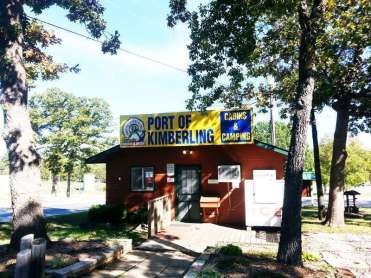 Port of Kimberling Marina RV Park and Campground in Kimberling City Missouri office
