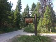quartz-creek-campground-glacier-national-park-sign