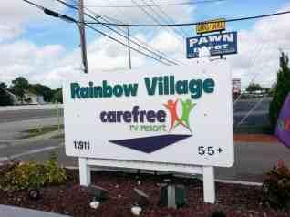 rainbow-village-rv-resort-largo-florida-sign
