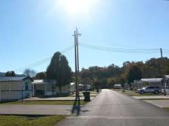 Riverbend Campground in Pigeon Forge Tennessee Entrance Thru Mobile Home Community
