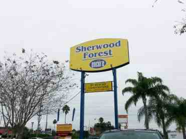 Sherwood Forest RV Park in Kissimmee Florida Sign