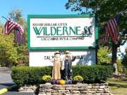 The Wilderness at Silver Dollar City in Branson Missouri Sign