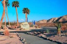 Sky Valley Resort in Desert Hot Springs California Sign