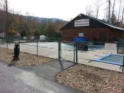 Smoky Bear Campground in Cosby Tennessee Pool (Closed for season in this photo)