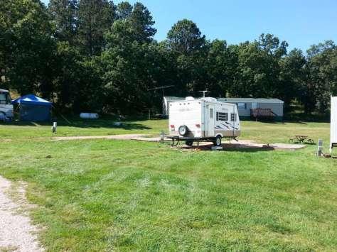 Spokane Creek Cabins & Campground near Keystone South Dakota Pull thru