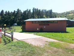 Spokane Creek Cabins & Campground near Keystone South Dakota Showerhouse