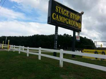 Stage Stop Campground in Winter Garden Florida Sign