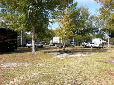 Stagecoach RV Park in St Augustine Florida RV Site